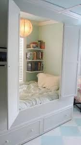 A beautiful day bed hidden in a closet:
