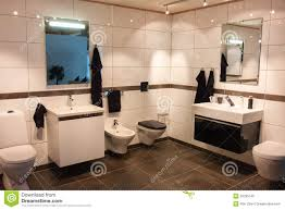 Large Bathroom Beautiful Large Bathroom In Luxury New Home Royalty Free Stock