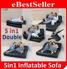 original comfort quest 5 in 1 inflatable air sofa bed mattress w pump
