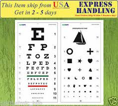 Snellen Chart Dimensions Details About Snellen And Kindergarten Wall Eye Chart Size 22 X 11 Pack Of 2 Free Shipping