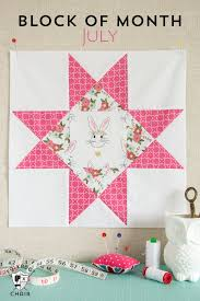 July Block of the Month; Ohio Star Quilt Block | Star quilt blocks ... & July Block of the Month; Ohio Star Quilt Block Adamdwight.com