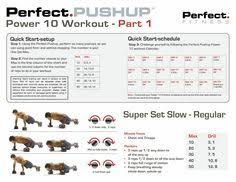 Power Of 10 Workout Chart 8 Best Workouts Images Perfect Pushup Push Up Dancer Workout