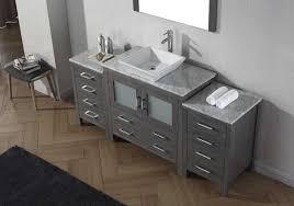 66 inch bathroom vanity. Virtu USA Dior 66\ 66 Inch Bathroom Vanity