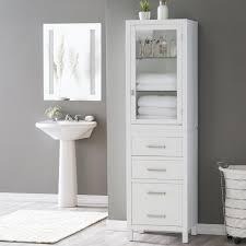 Elegant Home Avery 1 Door Linen Cabinet with Bottom Drawer | Hayneedle
