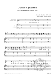 O quam tu pulchra es from Alessandro Grandi   buy now in Stretta sheet  music shop