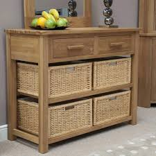 furniture for a foyer. Oak Console Table With Storage Baskets Also Solid Modern Furniture Sofa Small Black Foyer White Wood For A