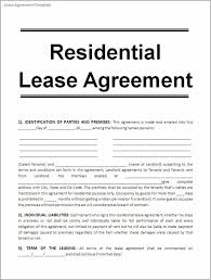 Template Lease Printable Lease Agreement Template Business