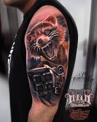 Rocket Raccoon Sleeve Tattoo Rocket Tattoos Marvel Tattoos