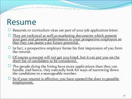 what do resume mean