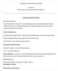 Kindergarten Teacher Resume Kindergarten Teacher Resume Wemustcreate Co