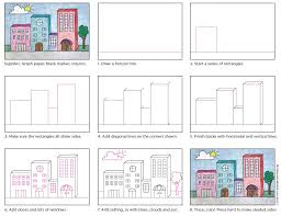 Draw 3d Buildings Art Projects For Kids