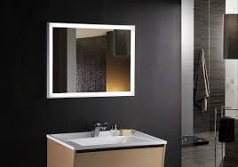 Amazing of Lighted Bathroom Mirrors pertaining to House Design Ideas with  Cuzio Lighted Vanity Mirror Led Bathroom Mirror