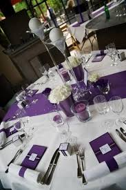 Table, Purple Hydrangea Centerpieces and Table Settings For Weddings