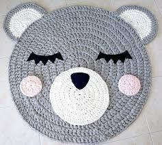teddy bear rug pink aldi nursery