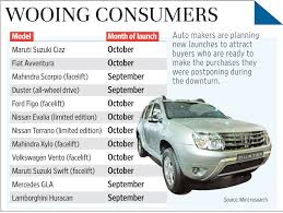 new car launches september 2014Auto makers line up new models retain discounts to tap upturn