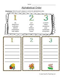 Alphabetical Order Worksheets | Have Fun Teaching