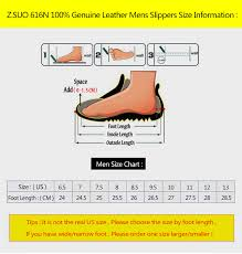 Happy Feet Slippers Size Chart Z Suo Brand Zs 616n Brown Black Size 38 47 Fashion Double Belts Hook Loop Handmade 100 Genuine Leather Men S Slippers