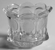 fostoria coin glass clear sugar bowl w lip no lid