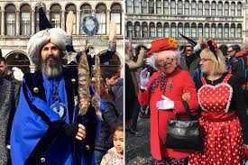 whilst the traditional professional venice carnival costumes are the stars of the show it s