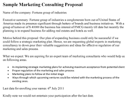 consultant proposal template marketing consulting proposal template
