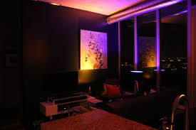 Philips Hue Lights Living Room Living Room At Night With Philips Hue Gold Blue Light Combo