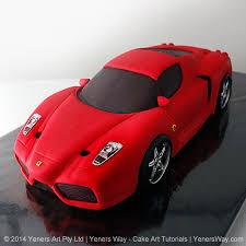 3d Ferrari Enzo Car Cake Yeners Way