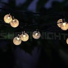 Amazoncom BINZET 20ft 30leds Solar LED String Lights Warm White