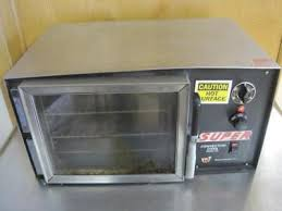 wisco super 1 4 sheet mini convection oven table top commercial 608 120v