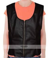 women s slim fit brown faux moto vest 119 00