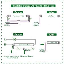 Wiring Fluorescent Lights To Led Led Fluorescent Tube Replacement Wiring Diagram 1 Wiring