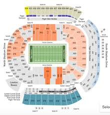 Lsu Seating Chart With Rows Lsu Tiger Stadium Seating Chart Seat Row Club Info