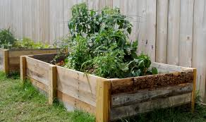 Diy How To Build A Raised Garden Bed Using Reclaimed Pallet Wood Make A Raised Bed Garden From Pallets