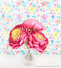 Download free peony vectors and other types of peony graphics and clipart at freevector.com! Peony Paper Flower Template How To Make Easy Diy Paper Flowers