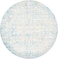 round area rugs photo 6 of 9 light blue 6 x 6 new vintage round rug