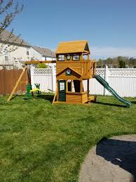 Wooden Swing Sets From Wayfair  Swing Set SpecialistBig Backyard Ashberry Wood Swing Set