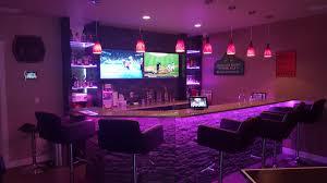 led strip lighting basement bar 8