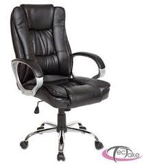 high back massaging black leather executive office chair with silver base. tectake high-back executive chair in black leather with polished chrome base high back massaging office silver