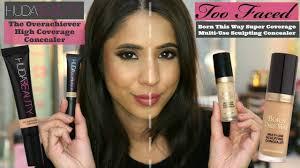 Huda Beauty Concealer Granola vs <b>Too Faced</b> Concealer <b>Warm</b> ...