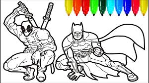 Find more coloring pages online for kids and adults of lego iron man coloring pages to print. Deadpool Batman Coloring Pages Colouring Pages For Kids Youtube