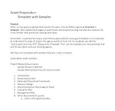 Proposal Template Fund Project Sample Funding Grant Writing