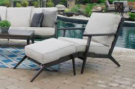 outdoor chair with ottoman. Adeline Outdoor Aluminum Seating Group; Furniture, Patio Sets, Wicker Chair With Ottoman