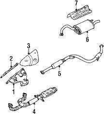 parts com® mitsubishi galant exhaust components oem parts 2003 mitsubishi galant gtz v6 3 0 liter gas exhaust components