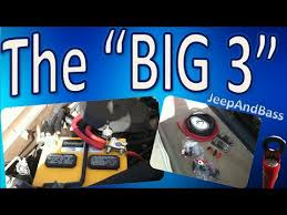 how to perform a big or big wiring upgrade the big 3 electrical upgrade rundown