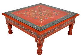 square table clipart. vintage wooden low coffee table orange painted square side chowki 33 cm clipart a