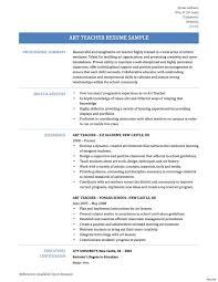 Art Teacher Resume Art Teacher Resume Templates Therpgmovie 2