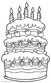 Coloring Page Of A Cupcake Birthday Cake Pages Free Cupcakes
