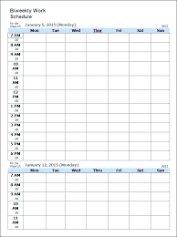 7 Day Schedule Template Free Work Templates For Word And Excel 12