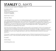 Two Weeks Notice Resignation Letter Example Letter Samples