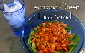 fast lean and green taco salad recipe