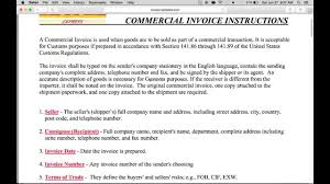 Printable Commercial Invoice How To Fill In A Dhl Commercial Invoice Pdf Youtube